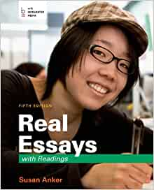 real essays with readings writing projects for college work