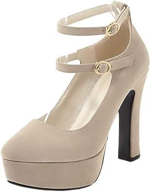 RAZAMAZA Mujer Tacón Alto Bombas Zapatos Plataforma