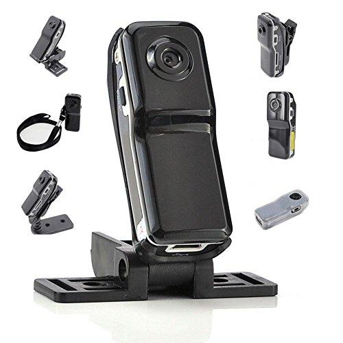 Aolvo Mini grabadora con activación de voz, grabadora oculta activada por voz Mini DVDVR cámara de vídeo grabadora soporte...