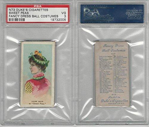 N73 Duke, Fancy Dress Ball Costumes, 1887, Sweet Peas, PSA 3 VG ()