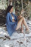Meditation Blanket, Yoga Wrap: Blue - Stonewashed
