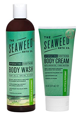 Eucalyptus + Peppermint Shower Set, The Seaweed Bath Co.