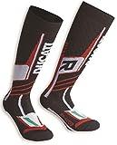 Ducati Performance V2 Tech Socks Black Red & White Euro 43-46 US 10-12