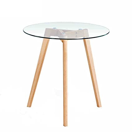 Amazoncom Xiaolin Table Nordic Solid Wood Round Table Tempered