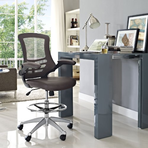 Modway Attainment Drafting Chair In Brown