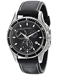 Hamilton Men's H37512731 Jazzmaster Seaview Chronograph Black Dial Watch