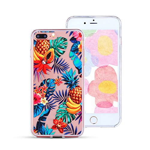 Clear iPhone 7 Plus Case Pineapple Design,Hard iPhone 8 Plus Case,Slim Fit Hybrid Protective Bumper Soft TPU Rubber Silicone iPhone 7 Plus Defender Case Phone Case for iPhone 7 Plus/iPhone 8 Plus 5.5]()
