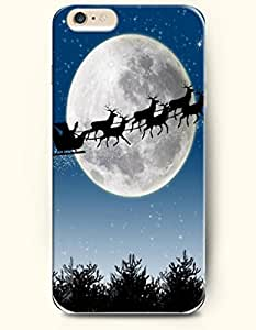 OOFIT New Apple iPhone 6 ( 4.7 Inches) Hard Case Cover - a Moving Sled Drifting beside the Round Bright Moon