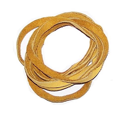 5' Natural American Deer Skin Lacing / Buckskin Lacing String (Gold) Deer Genuine Leather Lace