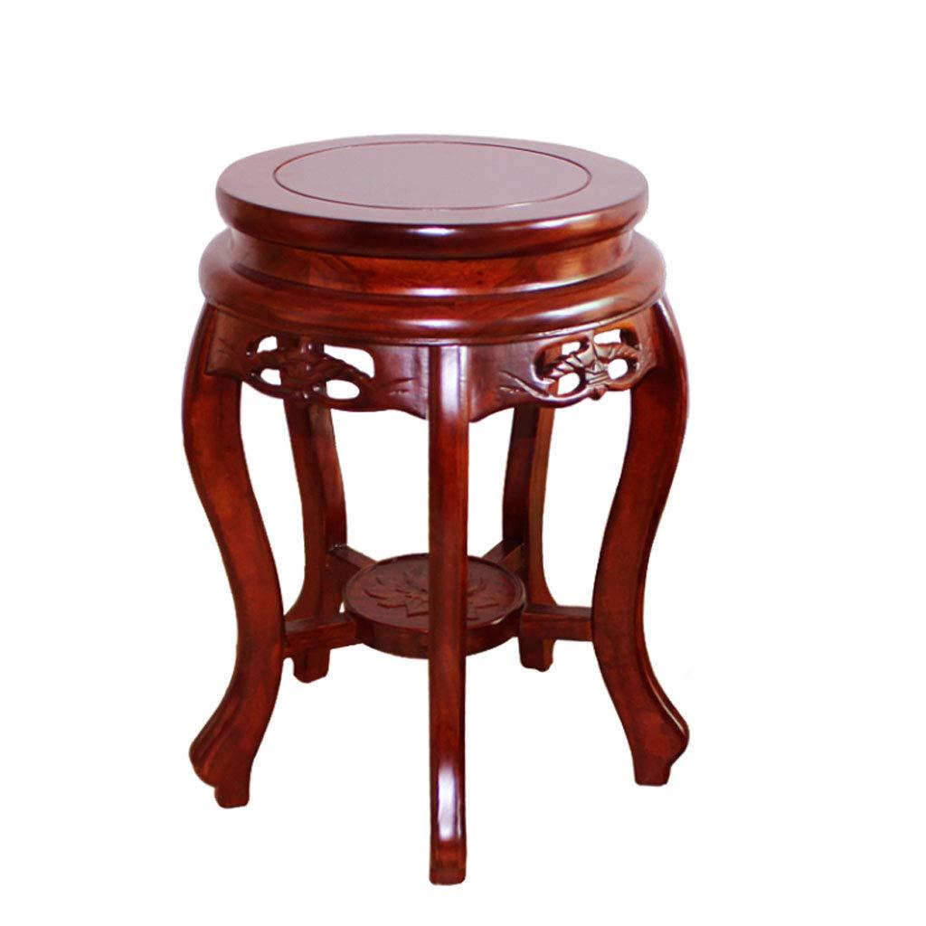 ZDD Fester hölzerner Schemel-Antiken-Schemel Ming und Qing-Dynastie klassischer speisender Stuhl-Fester hölzerner runder Schemel
