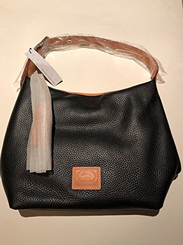 Dooney & Bourke Paige Sac Leather Hobo (Black) (Dooney And Bourke Hobo Bag)