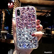 Crystal_phonecase Bling Sparkly Handmade Rhinestone Jewelled Crystals Diamond Clear Case Cover for Apple iPhone 4/4s 5c 5/5s/SE 6/6s 6/6sPlus 7/8 7/8Plus X (Pink/White Crystal, iPhone 7/8 Plus)