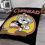 JUST FUNKY Cuphead Throw Blanket Feat. Cupman