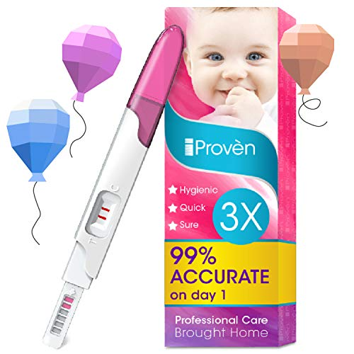 Early Pregnancy Test - 3 Pregnancy Tests - One Step HCG Urine Pregnancy Test - Do It Yourself Home Early Detection Pregnancy Tests - The Easy Way to Monitor Fertility - FMH-139 3-Pack iProvèn