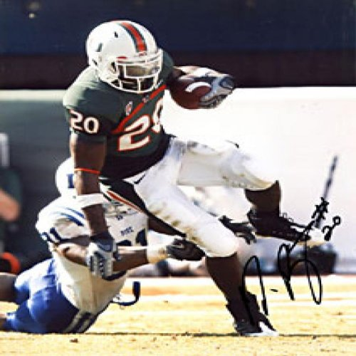 - Damien Berry Autographed / Signed Breaking Tackle 8x10 Photo