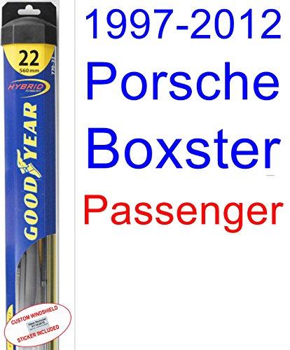 1997-2012 Porsche Boxster Wiper Blade (Passenger) (Goodyear Wiper Blades-Hybrid) (1998,1999,2000,2001,2002,2003,2004,2005,2006,2007,2008,2009,2010,2011) supplier