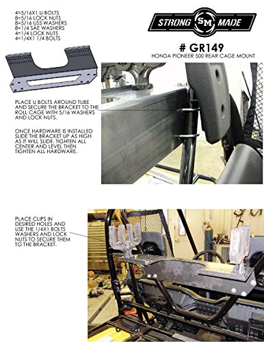 2015-2017 Honda Pioneer 500 Cage Mounted Gun Rack By Strong Made GR149 by Strong Made