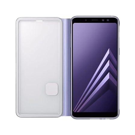 ef-fa530 Bright Genuine Samsung Galaxy A8 Neon Flip Cover Phone Case New Orchid Gray