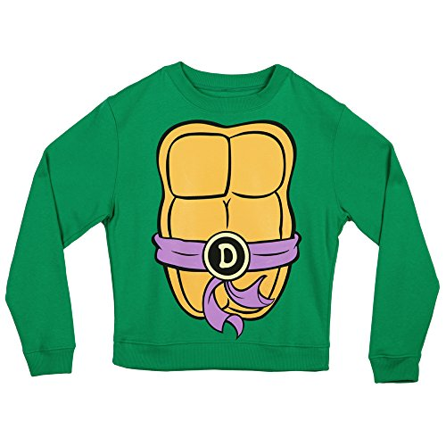 Teenage Mutant Ninja Turtles Costume Crew Neck Fleece Sweatshirt-Donatello (Medium) (Shredder Costume For Adults)