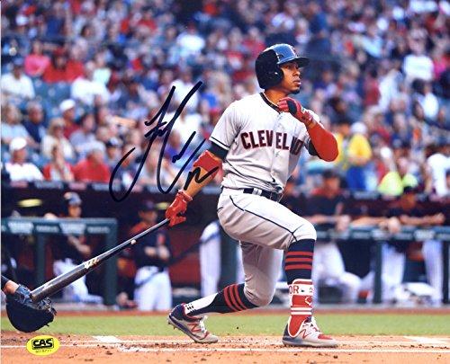 Francisco Lindor Cleveland Indians Signed Autographed 8 x 10 Hitting Photo CAS COA