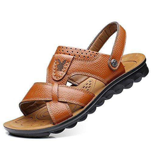 Transpirable Papá Playa Lin Hombre Mediana Mens Zapatos Hombres Sandalias Casual Verano Orange De Zapatillas Antideslizantes Cool Edad Xing nqP06Ctw6