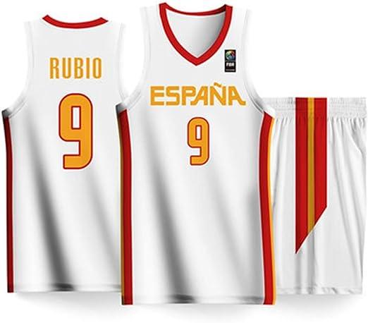 HS-XP Ricky Rubio # 9 Jerseys para Hombres del Equipo de España ...