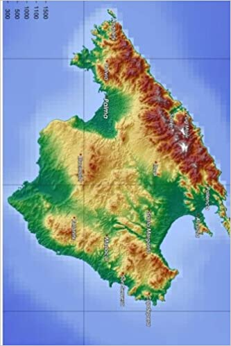 Topographical Map Of Spain.Topographic Map Of Mallorca Spain Journal Take Notes Write Down