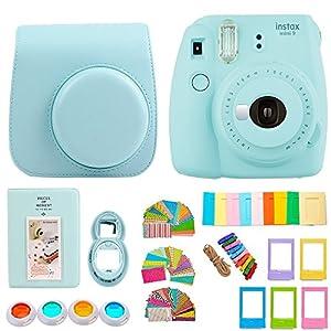 FujiFilm Instax Mini 9 Camera + 7 in 1 Colorful Accessory Bundle Kit