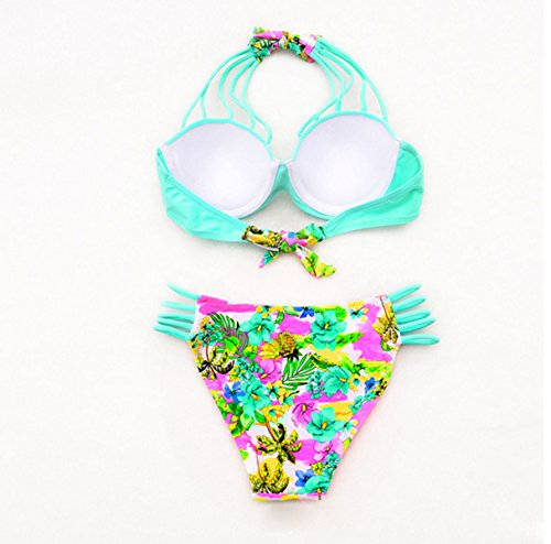 Sra Fresca Pequeña División Escritos Atractivos Bikini Green