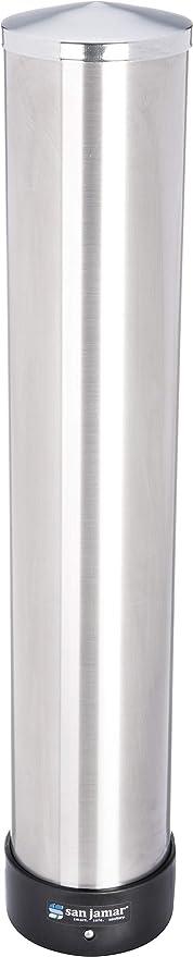 San Jamar c3400p Acero Inoxidable pull-type Dispensador de vasos de bebida, Tubo de