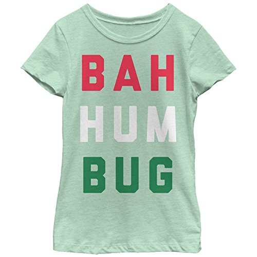 Lost Gods Girls' Christmas Bah Humbug Mint T-Shirt by Lost Gods