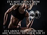 Fitness Model Poster Female Bodybuilder Workout Motivation 18×24 (SGV23)