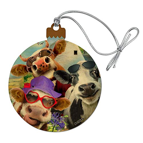 Cow Christmas Ornaments - GRAPHICS & MORE Udderly Cool Cow