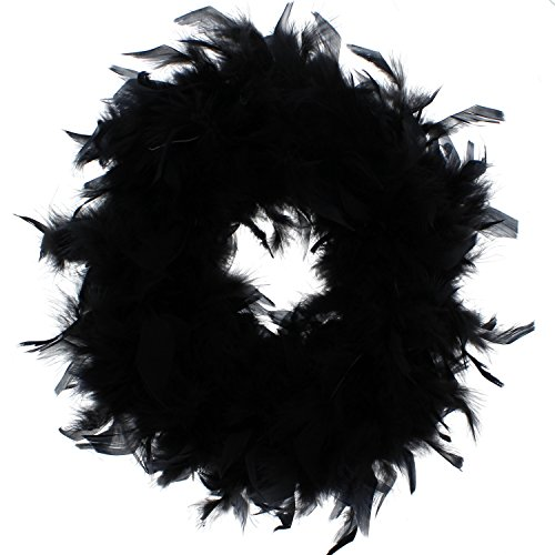 Zac's Alter Ego® Women's Fancy Dress Feather Boa - Great for Burlesque/Hen Dos 1.6M Black -