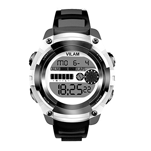VILAM Kids Digital Sports Watch Stopwatch with Chronograph, Alarm - Lighting Watch 50M Waterproof for Outdoor Sports, Children Wrist Watch for Boys, Girls
