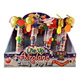 Product Of Liteup Airplane Candy Pop Fan, Count 12 - Sugar Candy / Grab Varieties & Flavors
