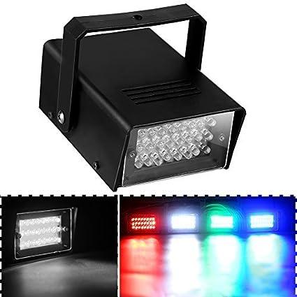 Cade Mini Disco 24 LED Bulb Club Stage Lighting Mini Dj Strobe Light Flash  Light For