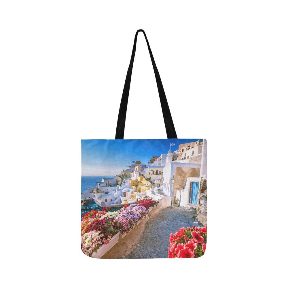 Casas tradicionales y famosas Santorini Lienzo Tote Bolso ...