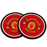 Official Licensed Manchester United F.C - Silicone Coasters (2 Pack)