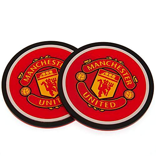 Official Licensed Manchester United F.C - Silicone Coasters (2 Pack) by Official Licensed