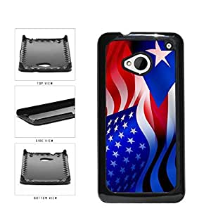 diy phone casePuerto Rico and USA Mixed Flag Plastic Phone Case Back Cover HTC One M7diy phone case