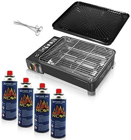 Rsonic - Parrilla de gas para camping sin cartuchos de gas ...