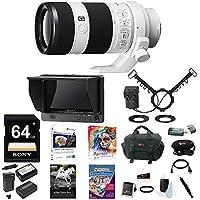 Sony FE 70-200mm Lens, HVLMT24AM Flash, CLMFHD5 Portable Monitor Bundle