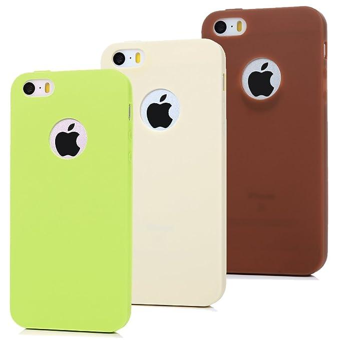 3 opinioni per 3x Cover iPhone 5S,iPhone 5/SE Custodia Silicone Opaco- MAXFE.CO Case Morbido