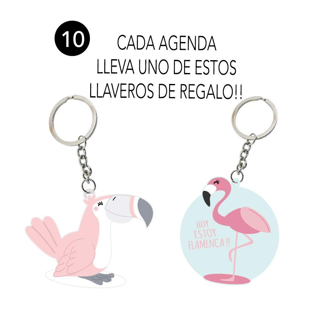 AGENDA ANUAL SEMANA VISTA CON 200 NOTAS ADHESIVAS+ 260 PEGATINAS + REGLA/MARCA PÁGINAS + LLAVERO CON LA FRASE: