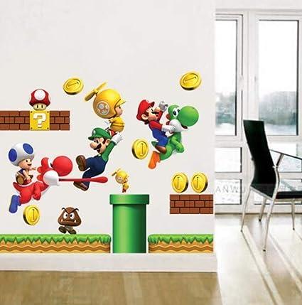 Adesivi Murali Super Mario.Zkpmjh Adesivi Murali In Vinile Rimovibili Adesivi Home Decor S