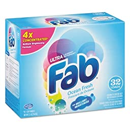 Fab PBC 36212 2X Powdered Laundry Detergent, Ocean Breeze, 2.1 lb. Box (Pack of 4)