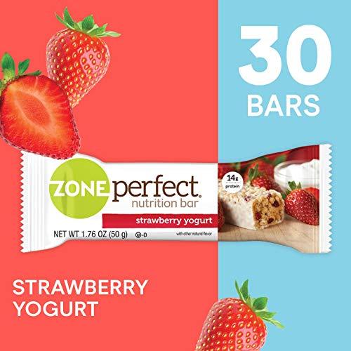 ZonePerfect Protein Bars, Strawberry Yogurt, High Protein, With Vitamins & Minerals (30 Count) (The Best Yogurt Brand)