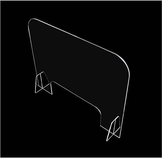 Fxwj Mamparas Proteccion Protector De Estornudo Protector para Mostrador Y Escritorio - Escudo De Acrílico Transparente Independiente para La Seguridad del Negocio Y del Cliente: Amazon.es: Deportes y aire libre