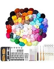 72 Colors Wool Needle Felting Kit for Beginners, Needle Felting Tools for Beginner, Wool Roving Set with Wool Felt Tools and Foam Mat for DIY Complete Needle Felting Starter Kit